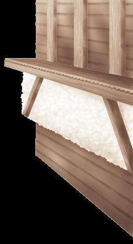 Chalé de Parede Interior