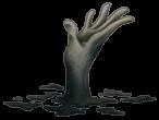 Mãos subterrâneas lúgubres