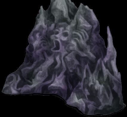 Parede de pedra subterrânea lúgubre