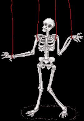 Esqueleto de laboratório escuro