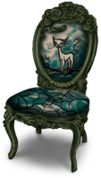 Cadeira escura do castelo