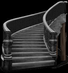 Escadaria escura do castelo