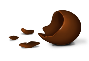 Ovo de chocolate comido