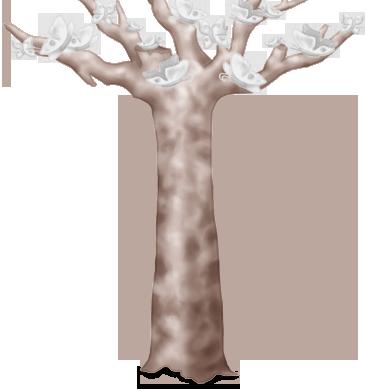 Recepção de casamento da árvore