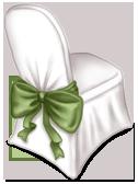 Cadeira de recepção de casamento