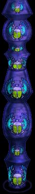 Pilar de escaravelho de Halloween de