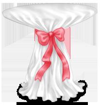 Mesa de copa de casamento