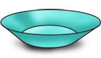 Assiette turquoise