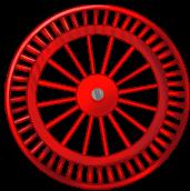 Roda de fundo vermelho