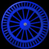 Roue fond bleue
