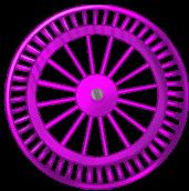 Roda de fundo Fushia