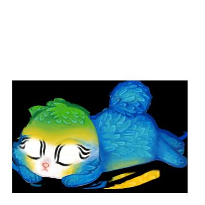 Adote um coelho Arara azul