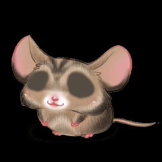 Mouse Bege e preto