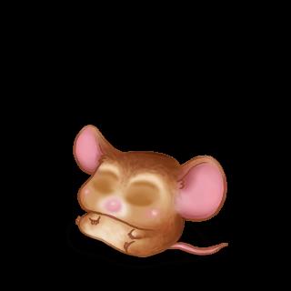 Adote um Mouse Bege dourado