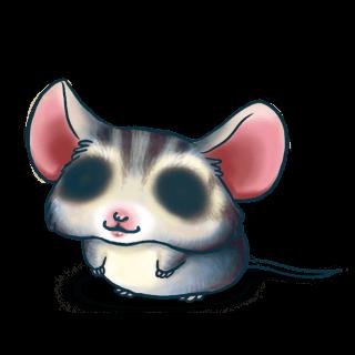 Adote um Mouse Cinza azul