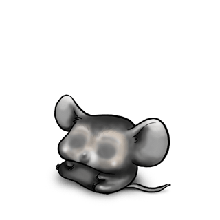 Adote um Mouse Preto e branco