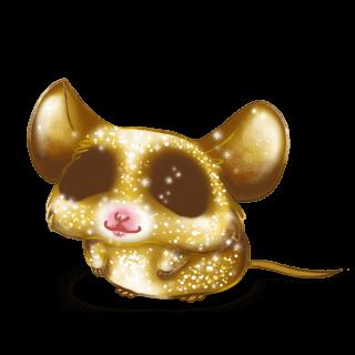 Mouse Brilho dourado