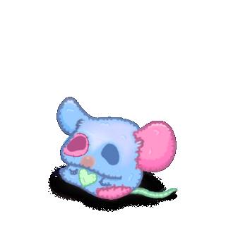 Adote um Mouse Pelúcia azul