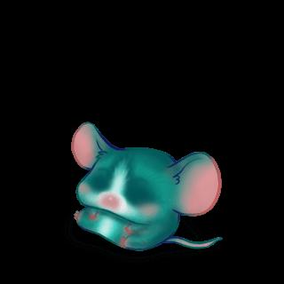 Adote um Mouse Turquesa
