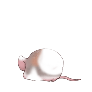 Adote um Mouse Azul pastel